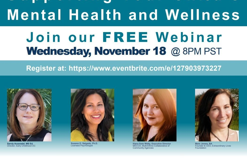 Supporting Your Child's Mental Health and Wellness Webinar